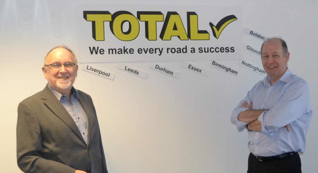 Stephen Preston and Mike Brown at the Boldon, Tyne and Wear, offices of Total Resources (UK) Ltd